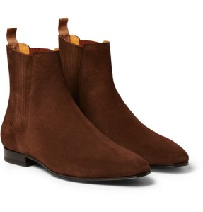 saint laurent chelsea suede boots